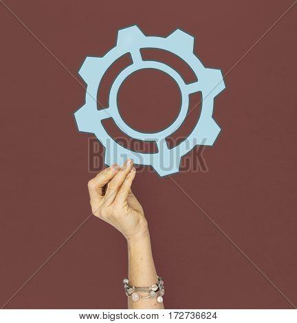 Gear Cogwheel Machine Detail Inside Steel