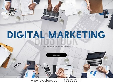 Digital Marketing Advertising Commercial Word