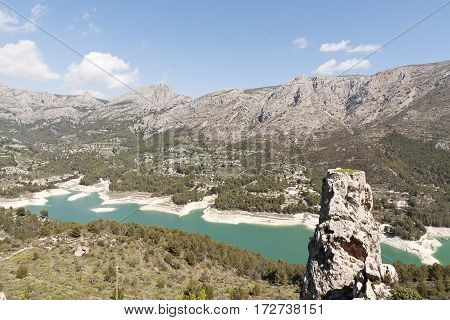 Reservoir Guadalest In The Province Of Alicante.
