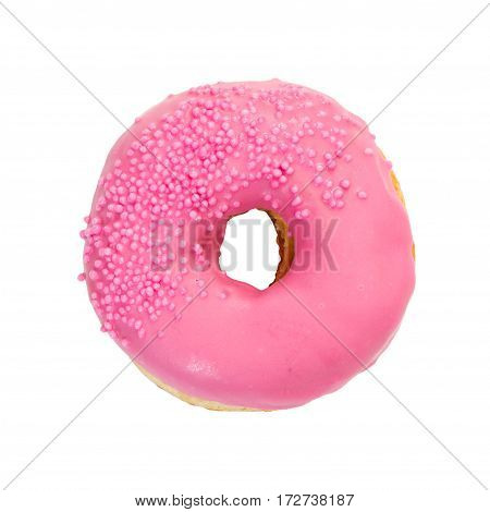 Donut With Pink Glaze And Sprinkles