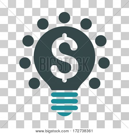 Business Patent Bulb icon. Vector illustration style is flat iconic bicolor symbol soft blue colors transparent background. Designed for web and software interfaces.