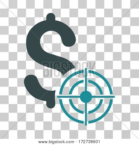 Business Target icon. Vector illustration style is flat iconic bicolor symbol soft blue colors transparent background. Designed for web and software interfaces.