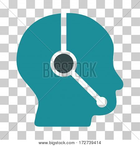 Call Center Operator icon. Vector illustration style is flat iconic bicolor symbol, soft blue colors, transparent background. Designed for web and software interfaces.