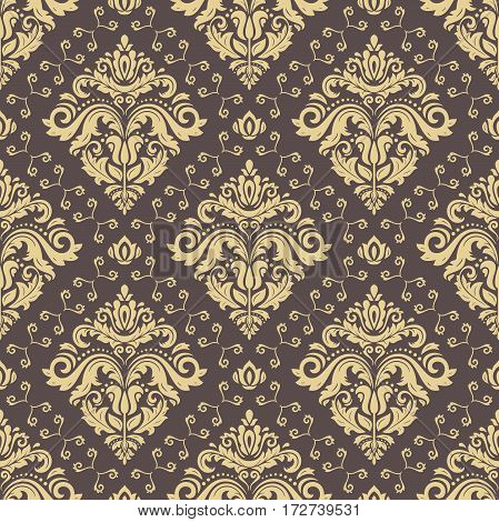 Classic seamless vector golden pattern. Traditional orient ornament. Classic vintage background