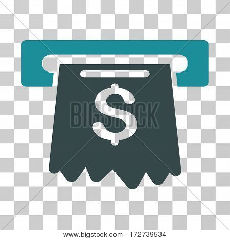 Cash Machine icon. Vector illustration style is flat iconic bicolor symbol, soft blue colors, transparent background. Designed for web and software interfaces.