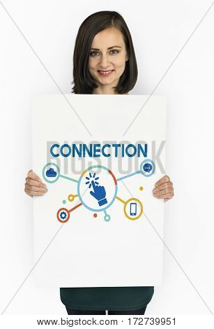 Connection Click Technology Icon Sign