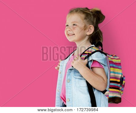 Little GIrl Smiling Happiness Traveling Bag