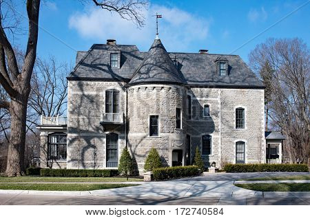Elegant Gray Stone House