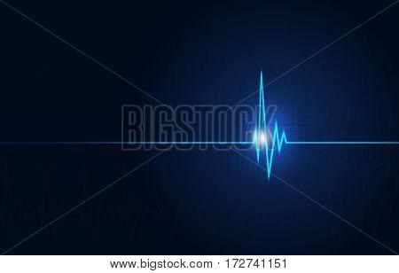 Cardio Medical Blue Background