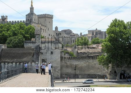 Palace Of Pope At Avignon On France