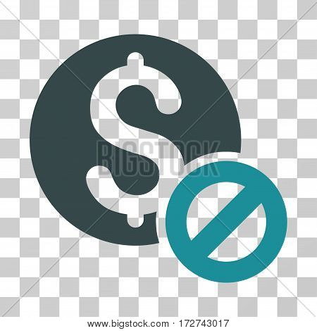 Free Of Charge icon. Vector illustration style is flat iconic bicolor symbol, soft blue colors, transparent background. Designed for web and software interfaces.