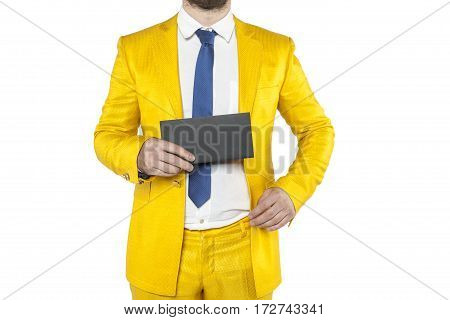 Policies In A Gold Suit Boasts Envelope