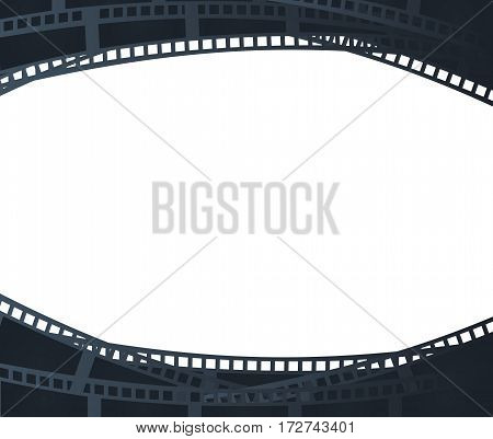 Background with retro filmstrip or movie reel