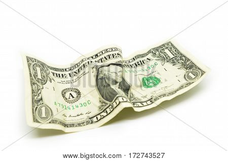 Crumple Wrinkled Dollar