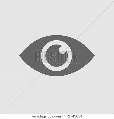 Eye vector icon EPS 10. Isolated simple vector symbol.