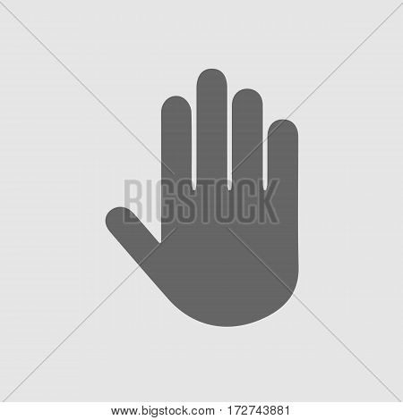 Stop hand vector icon. Vector illustration EPS 10.