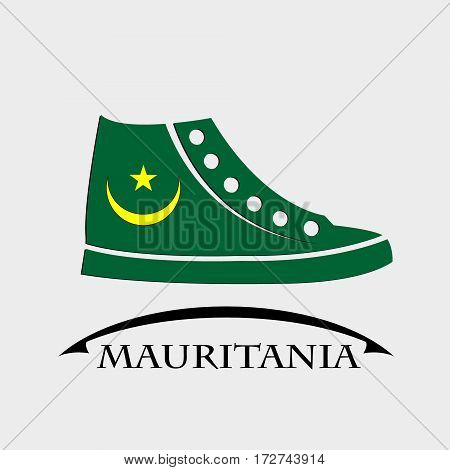 shoes icon made from the flag of Mauritania