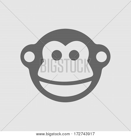 Monkey vector icon eps 10. Chinese year zodiac symbol 2016.