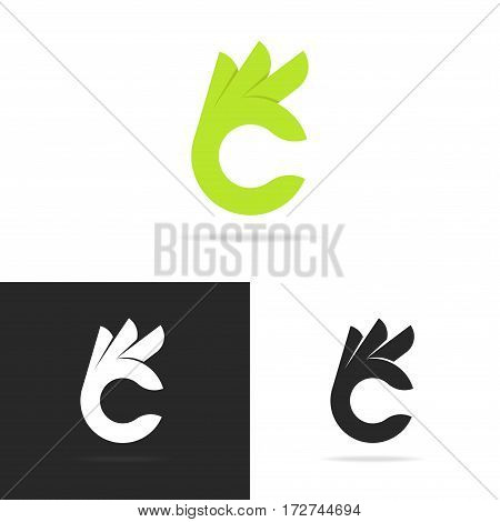 Set of hand with gesture ok logo template isolated on background. Vector design elements, business signs, logos, identity, labels, badges and other branding objects for your business. Vector Illustration