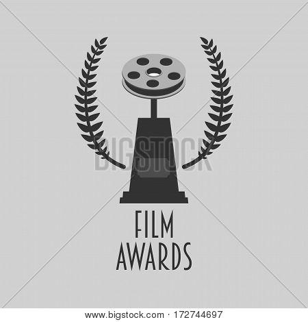 Film awards festival vector symbol or badge illustration