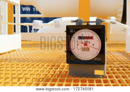 Gas flow meter for measuring  gas flow.