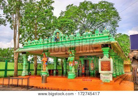 Hindu temple at the Ramayana Cave, Batu Caves in Kuala Lumpur - Malaysia