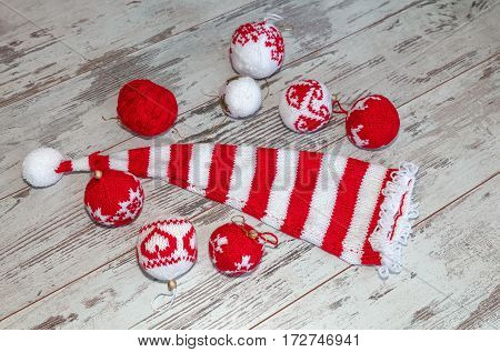 Balls Hand Knitted And Cap