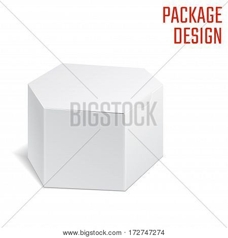 Vector Illustration of Clear Craft Box for Design, Website, Background, Banner. Retail Folding package Template. Fold pack Blank for your brand on it