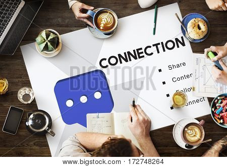 Social Network Communication Connection Concept