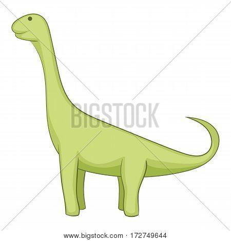 Barapasaurus icon. Cartoon illustration of brachiosaurus vector icon for web