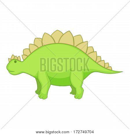 Stegosaurus icon. Cartoon illustration of stegosaurus vector icon for web