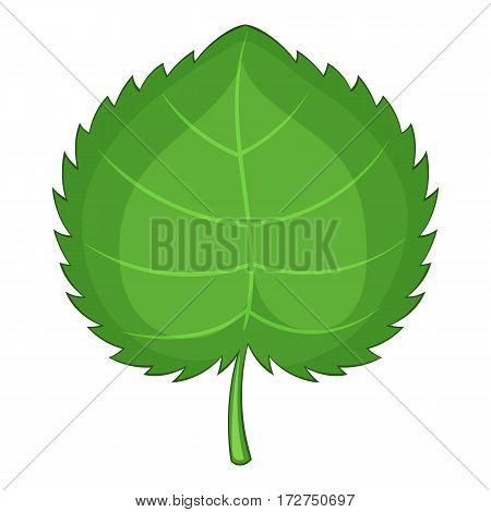 Alder leaf icon. Cartoon illustration of alder leaf vector icon for web