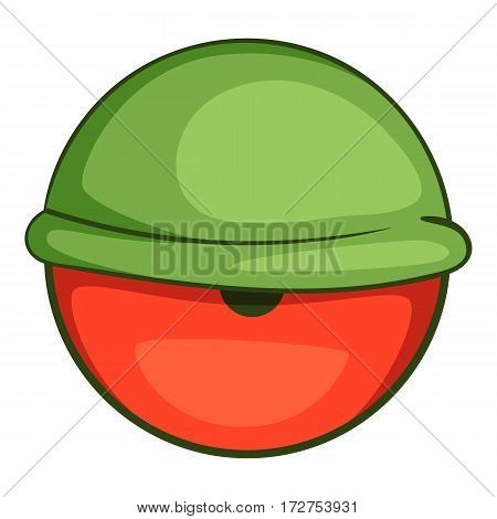 Bloodshot eyeball icon. Cartoon illustration of bloodshot eyeball vector icon for web