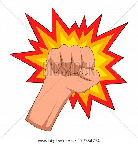 Fire fist icon. Cartoon illustration of fire fist vector icon for web