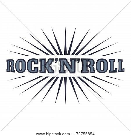 Rock and roll icon. Cartoon illustration of rock and roll vector icon for web