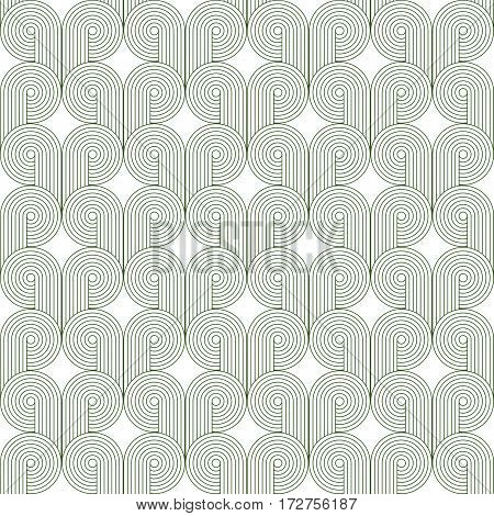 Abstract geometric green and white minimalistic background with stylized clouds or swirls