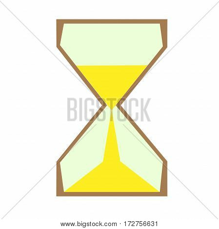 hourglass flat style isolated object . hours symbol