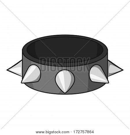 Bracelet with metal spikes icon. Cartoon illustration of bracelet with metal spikes vector icon for web poster