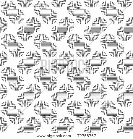 Abstract geometric blue and white minimalistic background with stylized clouds or swirls