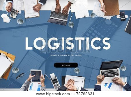 Logistics Procurement Shipping Freight Word