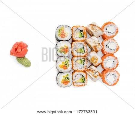 sushi isolated on the white