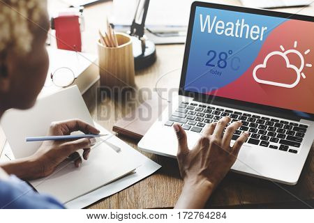 Weather Cloud Temperature Holiday Icon