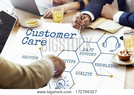 Online Service Customer Hexagon Diagram Icon