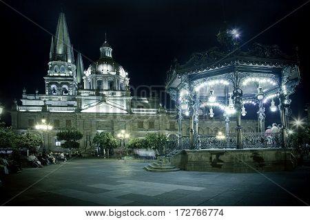 Historical Church In Guadalajara
