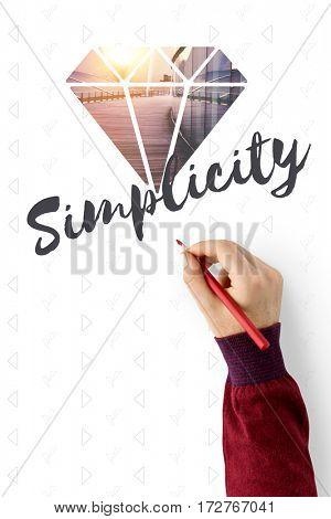 Minimalistic Simplicity Pragmatism Diamond Word