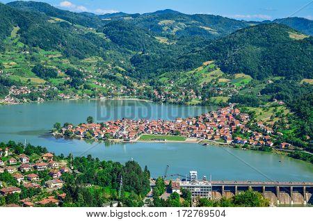 Beautiful lake peninsula (Divic, Zvornik - Bosnia and Herzegovina)