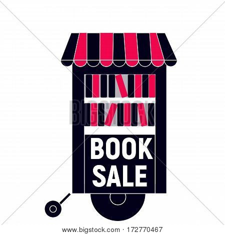 Book fair sale with truck black and red color