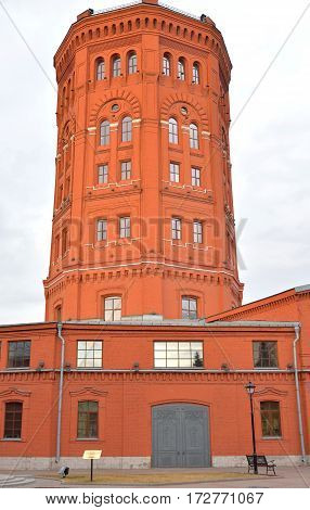 Old water tower in St. Petersburg was built in 1859-1861 years Russia.