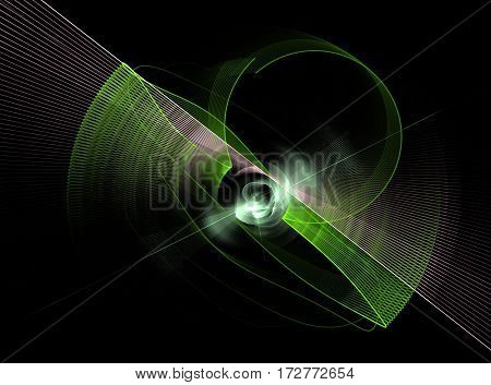 abstract rotate dark fractal green computer generated image