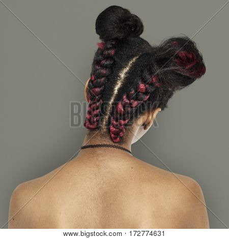 African Descent Woman Back
